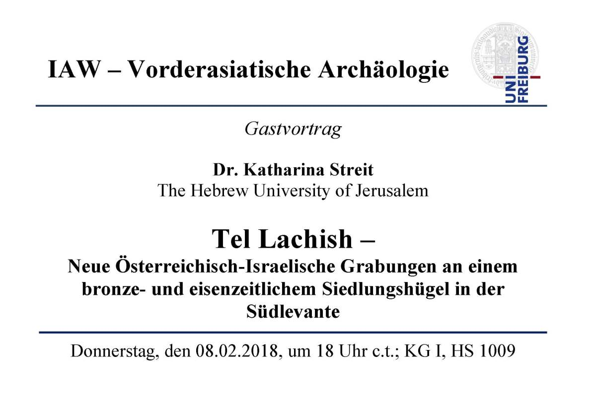 Upcoming lecture by Katharina Streit in Freiburg!