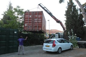 Delivery of our new (old) shipping container