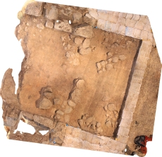 Photogrammetry of square in Area P