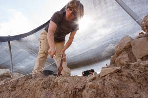 Excavating Area P