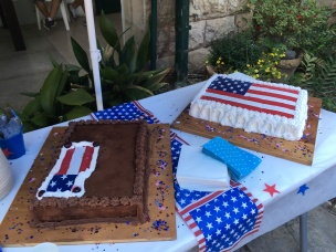 4th of July cake at the Albright
