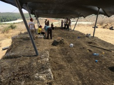 Start of excavation in Area P