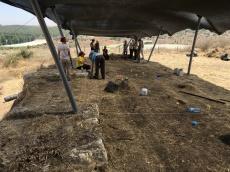 Start of excavation in Area P